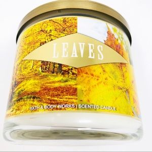 NEW Bath & Body Works Leaves Scent 14.5 oz Candle